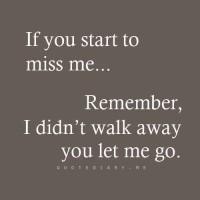 I Didn´t Walk Away...
