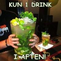 Kun en drink