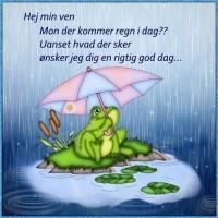 Regn i dag.