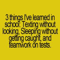 3 ting jeg lærte i skolen
