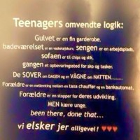 Teenage omvendt logik